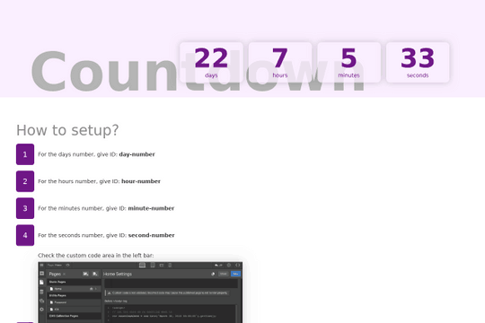Countdown Timer on webflow - Custom Code - Webflow Forums