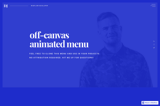 Full Screen Animated Menu - Webflow