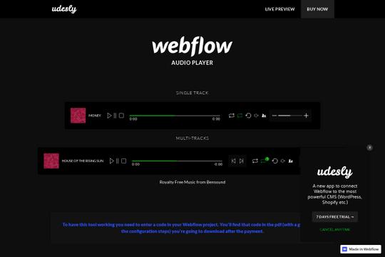 webflow-audio-player-cloneable - Webflow